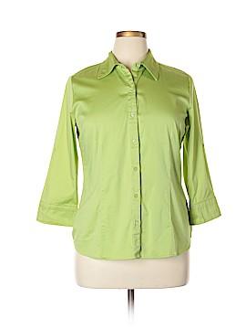 Apt. 9 3/4 Sleeve Button-Down Shirt Size XL
