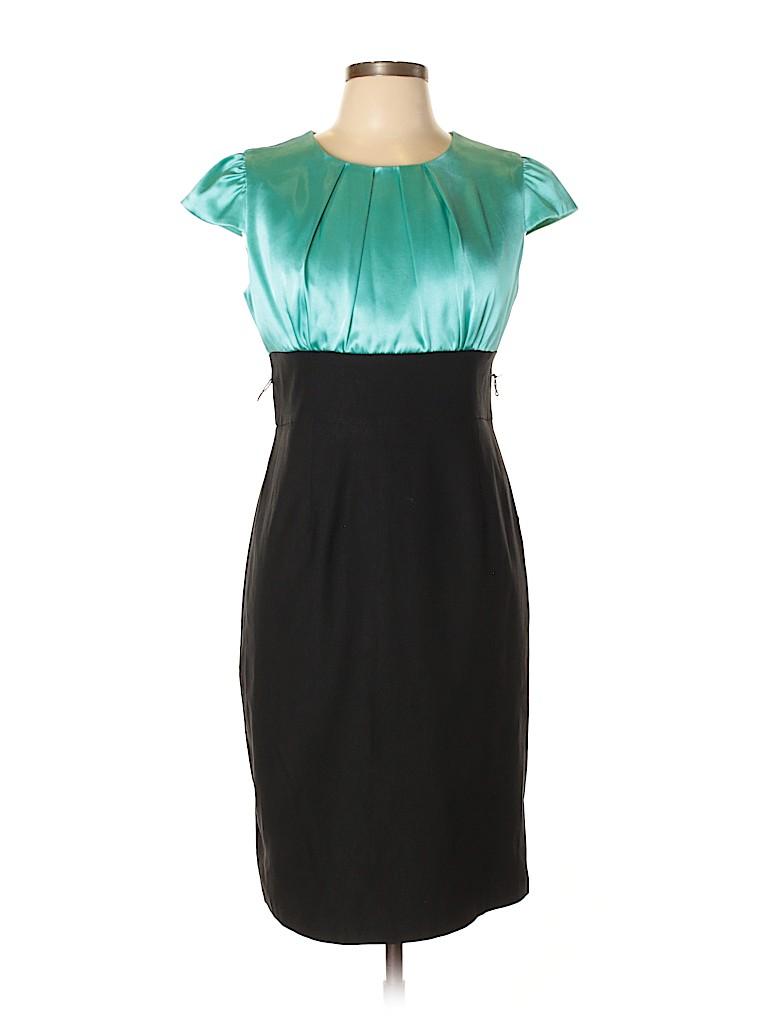 2af1c3745bc DressBarn Color Block Blue Cocktail Dress Size 12 - 4% off