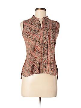 Fabindia Sleeveless Button-Down Shirt Size M
