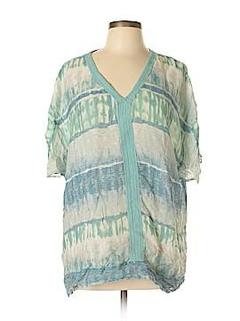 Gloria Vanderbilt Short Sleeve Blouse Size L
