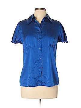 INC International Concepts Short Sleeve Silk Top Size 12