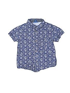 Naartjie Kids Short Sleeve Button-Down Shirt Size 3