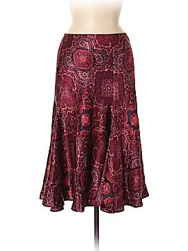 New York & Company Silk Skirt Size M