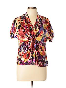 Anne Klein Short Sleeve Silk Top Size 10 (Petite)