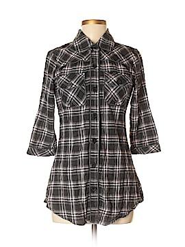 Buffalo by David Bitton 3/4 Sleeve Button-Down Shirt Size M