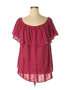 Style&Co Short Sleeve Blouse Size 3X (Plus)
