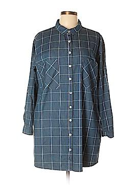Ellison 3/4 Sleeve Button-Down Shirt Size L