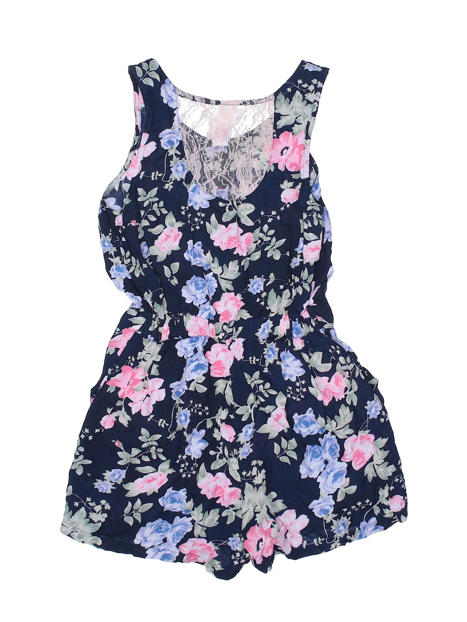 3485a8a2a4d Japna Kids 100% Rayon Floral Dark Blue Romper Size 12 - 65% off ...