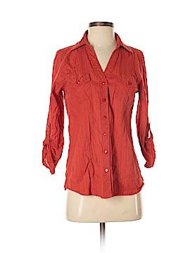 Love Potion 3/4 Sleeve Button-Down Shirt Size M
