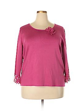 Sigrid Olsen 3/4 Sleeve Silk Top Size 2X (Plus)