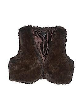 H&M Faux Fur Vest Size 8
