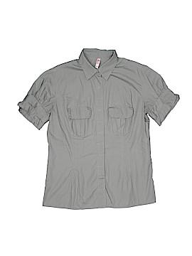 Xhilaration Short Sleeve Button-Down Shirt Size M