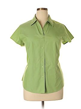 Coldwater Creek Short Sleeve Button-Down Shirt Size XL