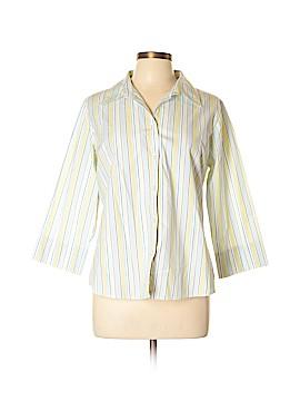A.L.C. 3/4 Sleeve Button-Down Shirt Size L
