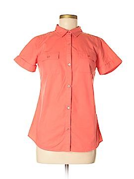 Garnet Hill Short Sleeve Button-Down Shirt Size 2