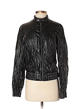 Black Poppy Faux Leather Jacket Size S