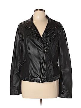 Rock & Republic Faux Leather Jacket Size XL