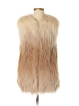 Topshop Faux Fur Vest Size 4