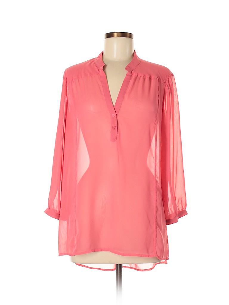 Pleione Women 3/4 Sleeve Blouse Size M