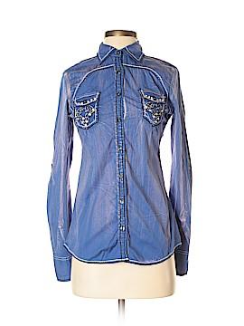 Roar Long Sleeve Button-Down Shirt Size 4
