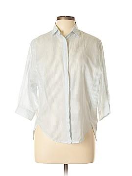 Ann Taylor LOFT Outlet 3/4 Sleeve Button-Down Shirt Size S (Petite)