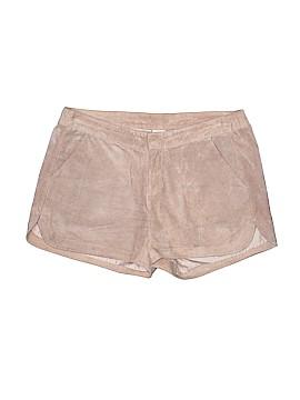 Ecru Leather Shorts Size M