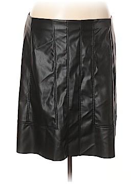 Modamix By Brandon Thomas Faux Leather Skirt Size 20 (Plus)