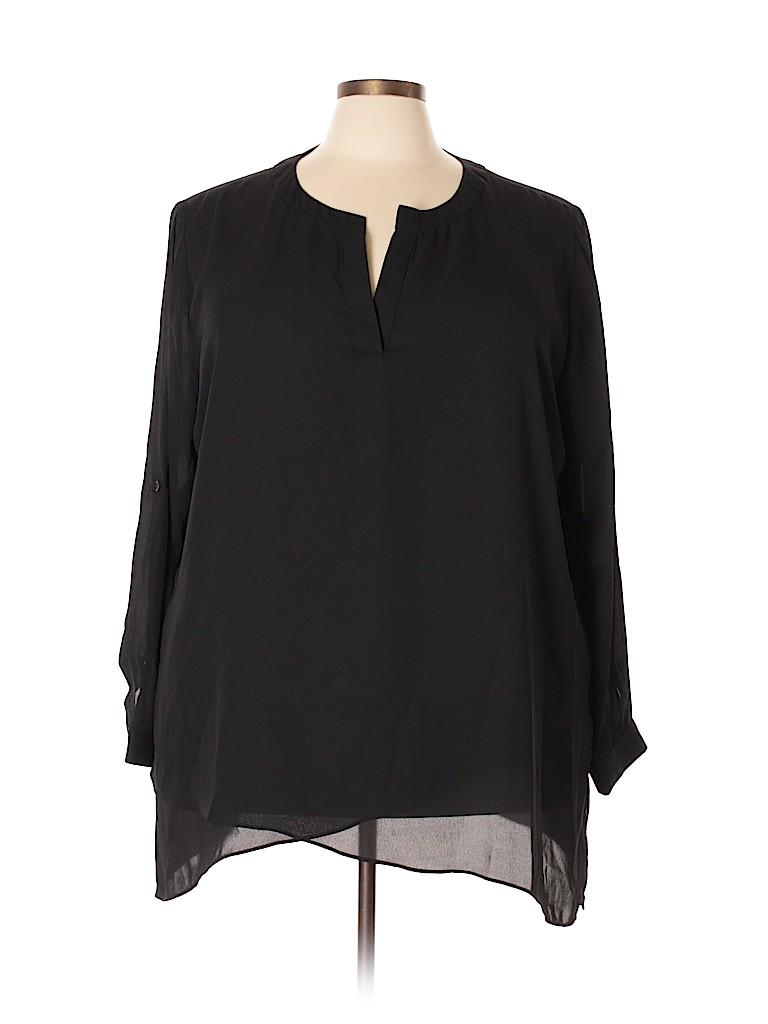 Landa Curve By Dora Landa Women Long Sleeve Blouse Size 5X (Plus)