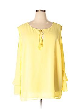 Modamix By Brandon Thomas 3/4 Sleeve Blouse Size 30 (Plus)