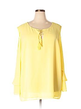 Modamix By Brandon Thomas Long Sleeve Blouse Size 28 (Plus)