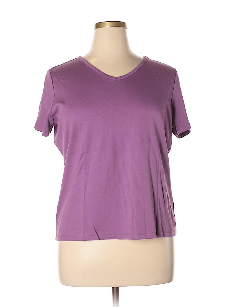 L.L.Bean Women Short Sleeve T-Shirt Size XL