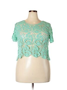 Cool Attitudes Short Sleeve Blouse Size 1X (Plus)
