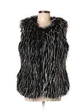 Nicole by Nicole Miller Faux Fur Vest Size L