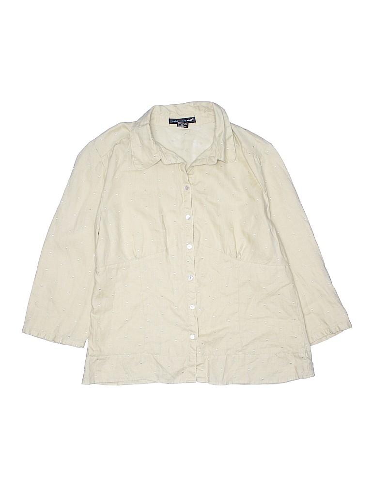 Saint Tropez West Women 3/4 Sleeve Blouse Size L