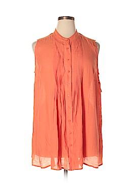 Alfani Sleeveless Button-Down Shirt Size 18W (Plus)