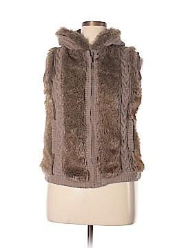 Roz & Ali Faux Fur Vest Size L