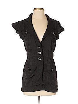 White House Black Market Short Sleeve Button-Down Shirt Size 4