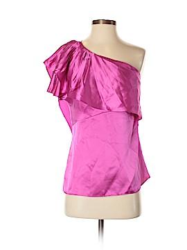 BCBGeneration Short Sleeve Silk Top Size S