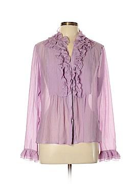 ETRO Long Sleeve Silk Top Size 48 (IT)