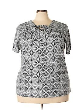 Gloria Vanderbilt Short Sleeve Top Size 2X (Plus)