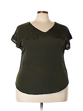 Perseption Short Sleeve Blouse Size 1X (Plus)