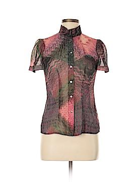 Eccoci Short Sleeve Silk Top Size 0