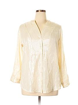 Hannah Long Sleeve Button-Down Shirt Size L