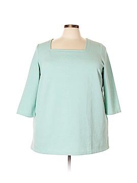 Denim 24/7 3/4 Sleeve Top Size 1X (Plus)