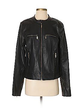 Julie Brown Faux Leather Jacket Size 8