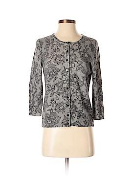 Vertical Design 3/4 Sleeve Button-Down Shirt Size S