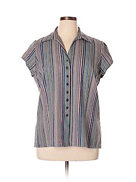 DressBarn Short Sleeve Button-Down Shirt Size 1X (Plus)