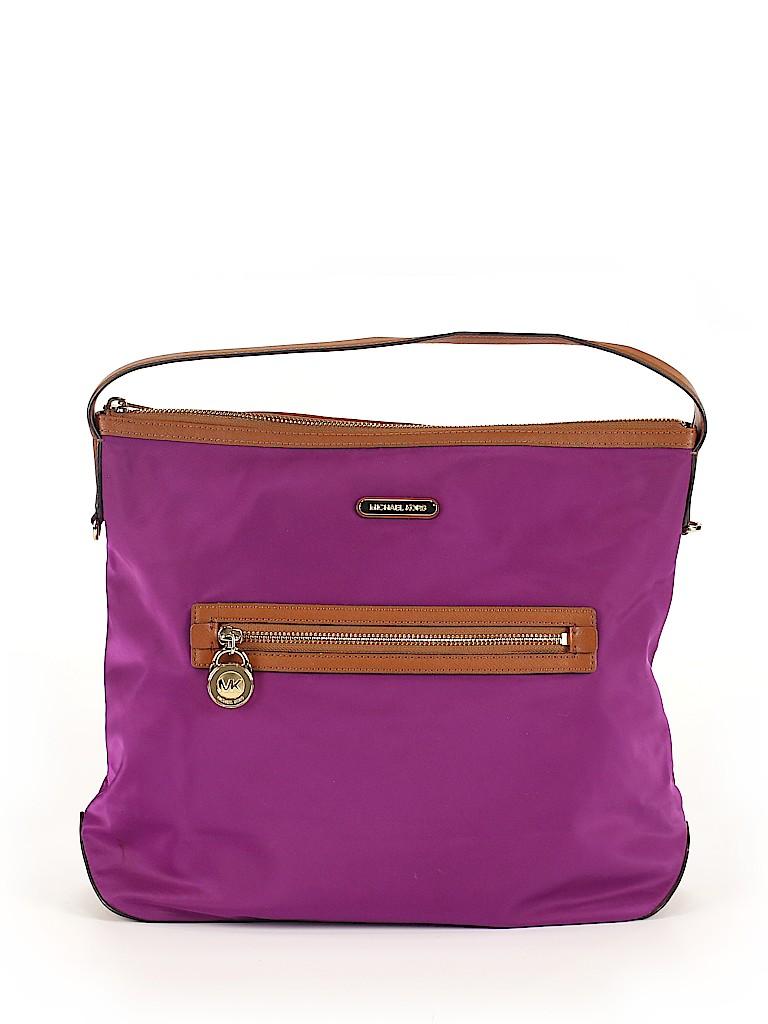 2e8f3187478c05 MICHAEL Michael Kors Solid Dark Purple Shoulder Bag One Size - 75 ...