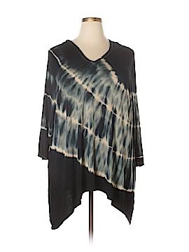 Linda Matthews 3/4 Sleeve Top Size 3X (Plus)
