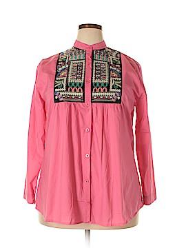 Velzera Long Sleeve Button-Down Shirt Size 2X (Plus)